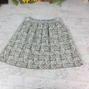 J. Crew Heather lace mini skirt